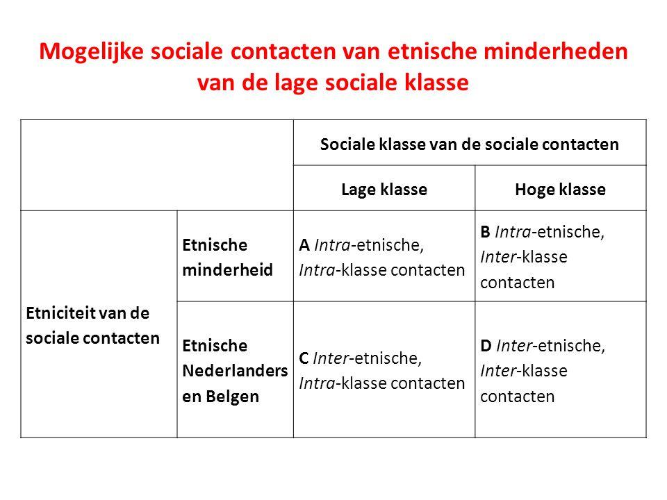Sociaaleconomische integratie etnische minderheden Respondent: - Etniciteit - SES Sociale netwerk leden: - Etniciteit - SES