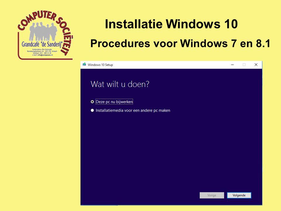 Procedures voor Windows 7 en 8.1