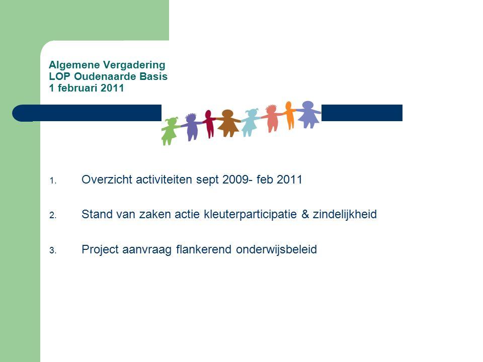 Algemene Vergadering LOP Oudenaarde Basis 1 februari 2011 1.