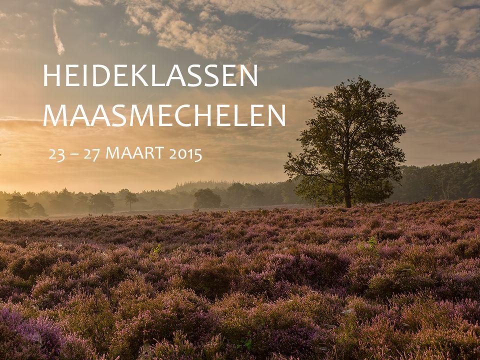 HEIDEKLASSEN MAASMECHELEN 23 – 27 MAART 2015