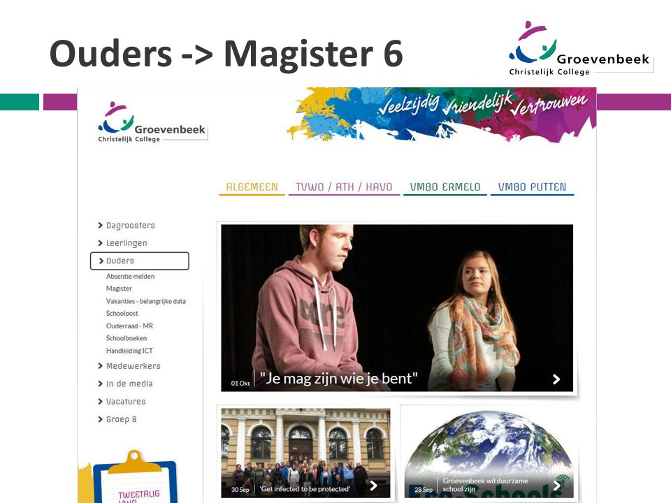 Ouders -> Magister 6