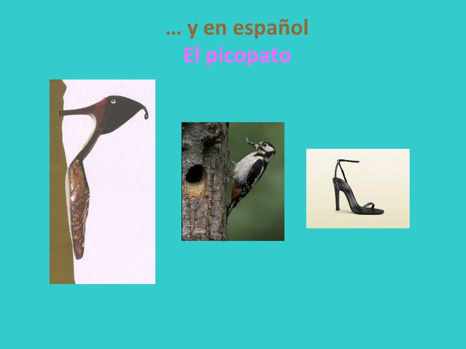 … y en español El picopato