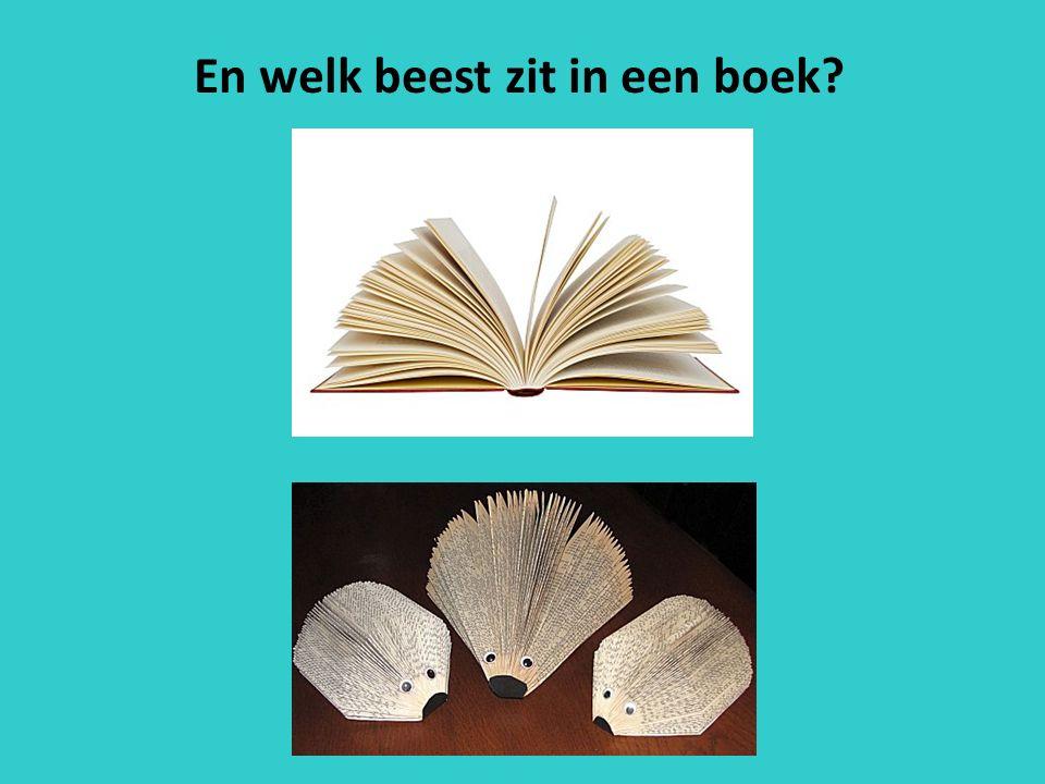 En welk beest zit in een boek?