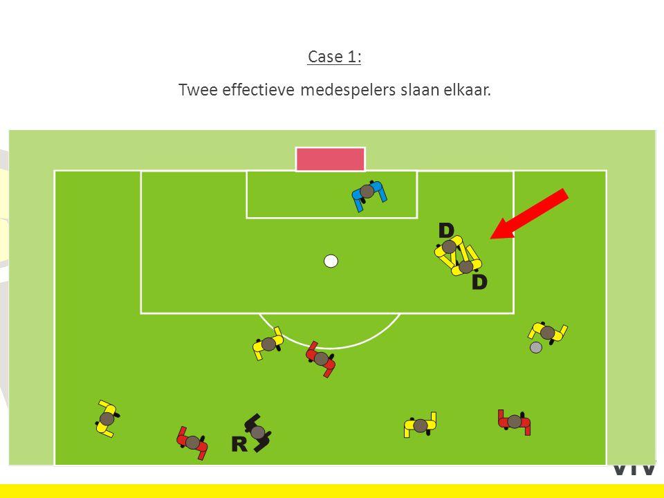 Case 1: Twee effectieve medespelers slaan elkaar.