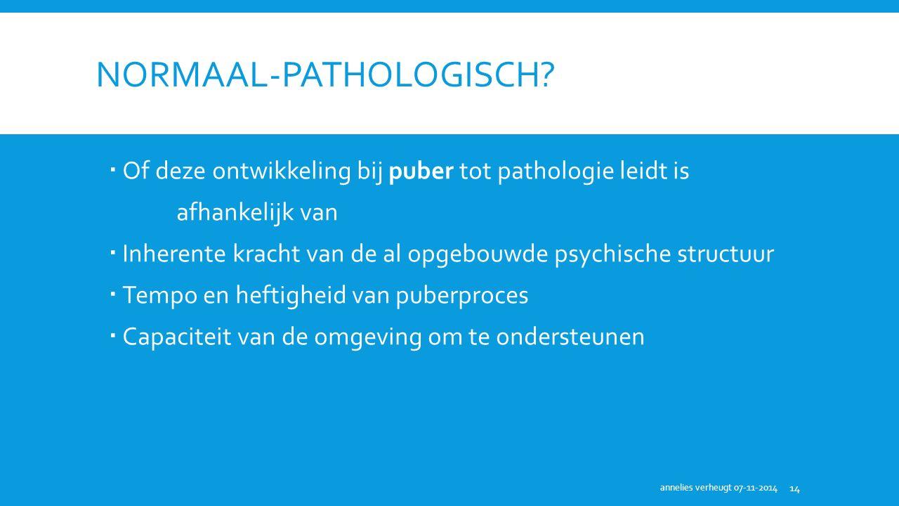 NORMAAL-PATHOLOGISCH.
