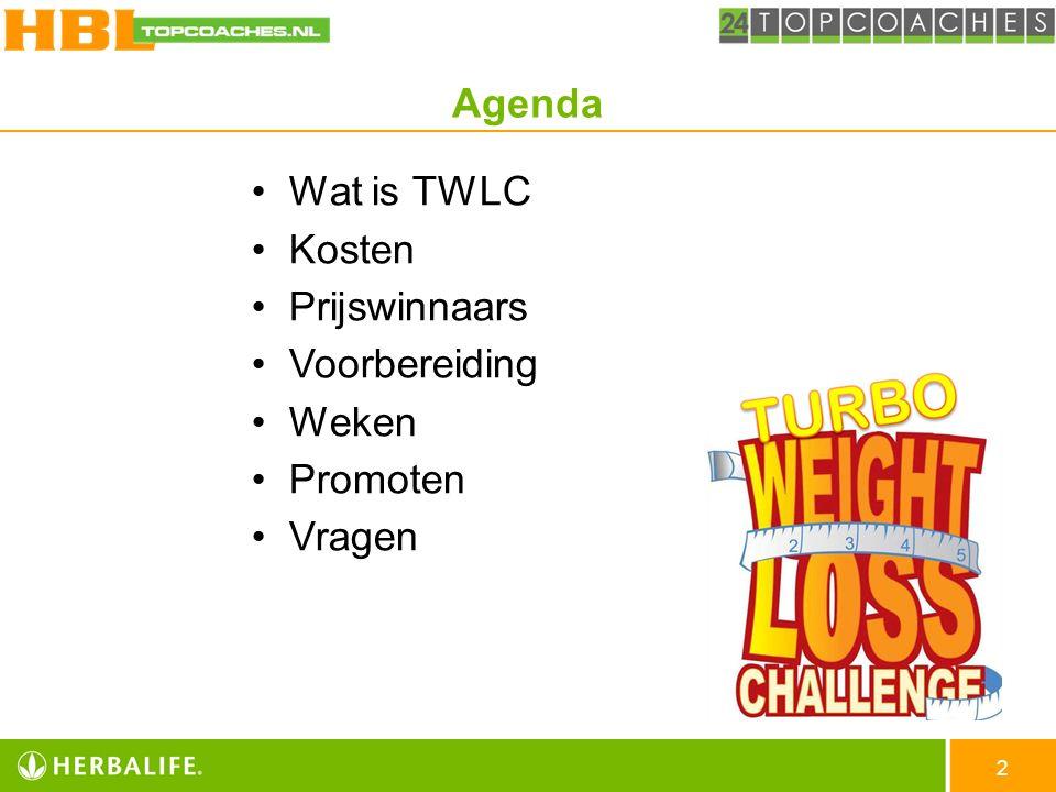3 De TWLC is een: KORTE afslankwedstrijd.-> Geen snelle.