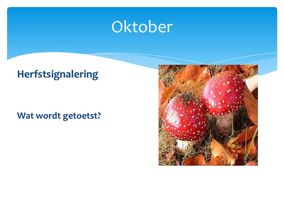 Oktober Herfstsignalering Wat wordt getoetst?