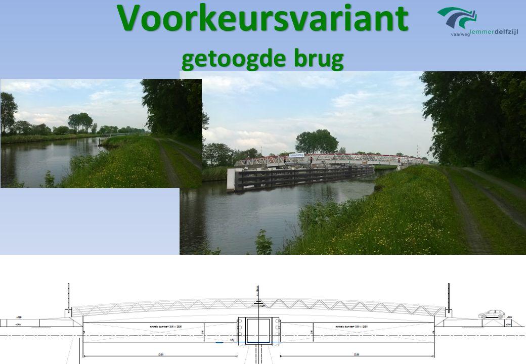 Voorkeursvariant getoogde brug