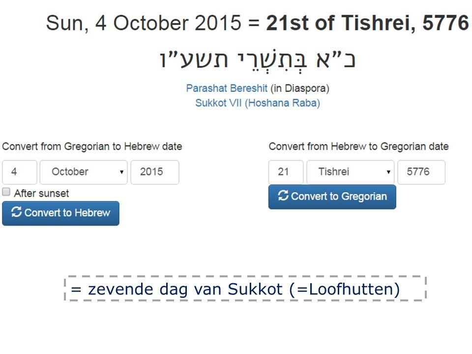= zevende dag van Sukkot (=Loofhutten)