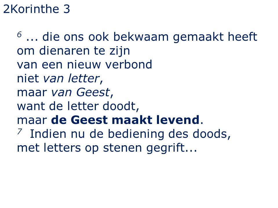 2Korinthe 3 6...