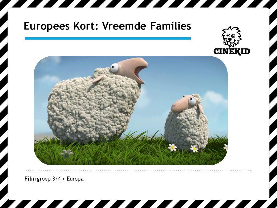 Europees Kort: Vreemde Families Film groep 3/4 Europa