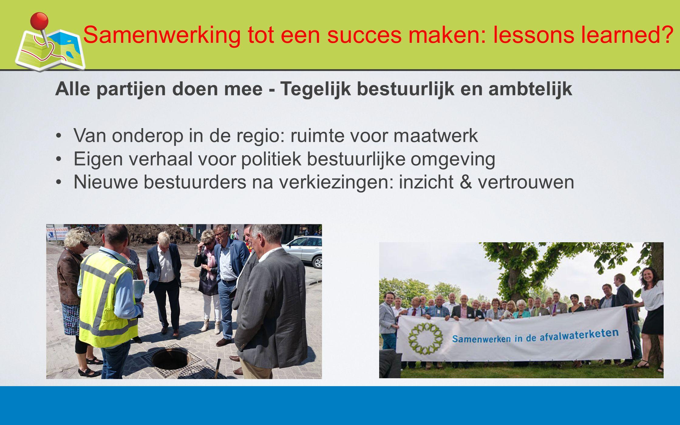 27 februari 201311 Samenwerking tot een succes maken: lessons learned.