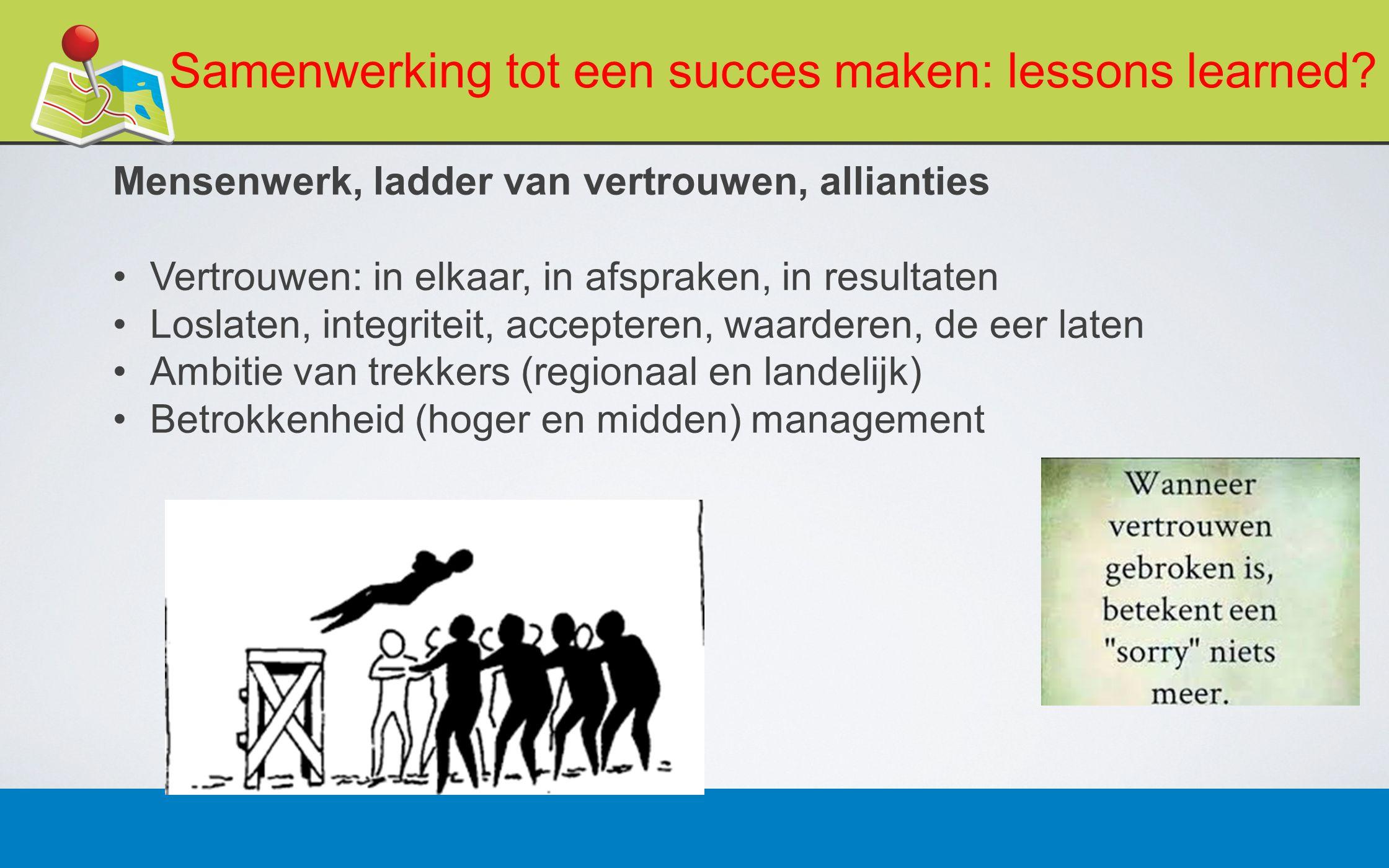 27 februari 201314 Samenwerking tot een succes maken: lessons learned.