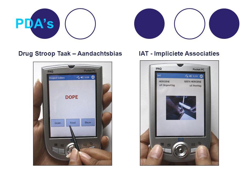 PDA's Drug Stroop TaakImpliciete Associatie Test