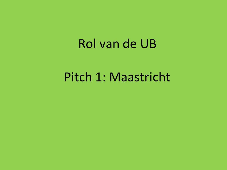 Rol van de UB Pitch 1: Maastricht