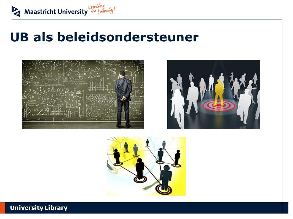 University Library UB als beleidsondersteuner