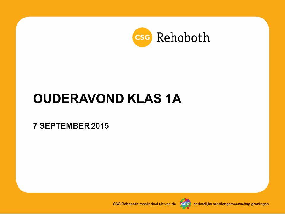 OUDERAVOND KLAS 1A 7 SEPTEMBER 2015