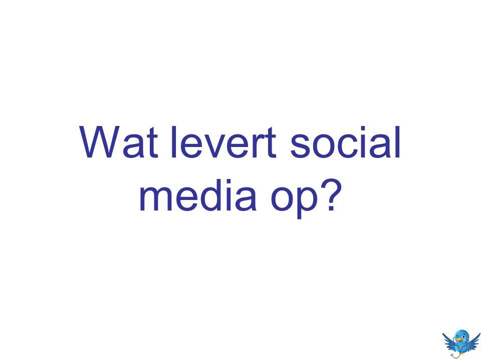 Wat levert social media op?