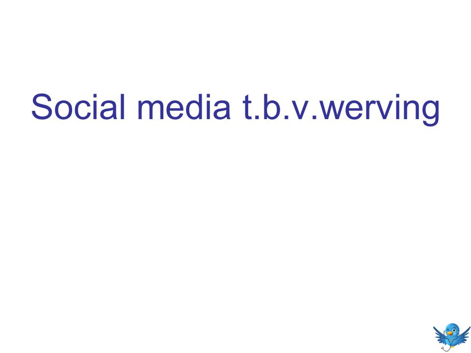 Social media t.b.v.werving