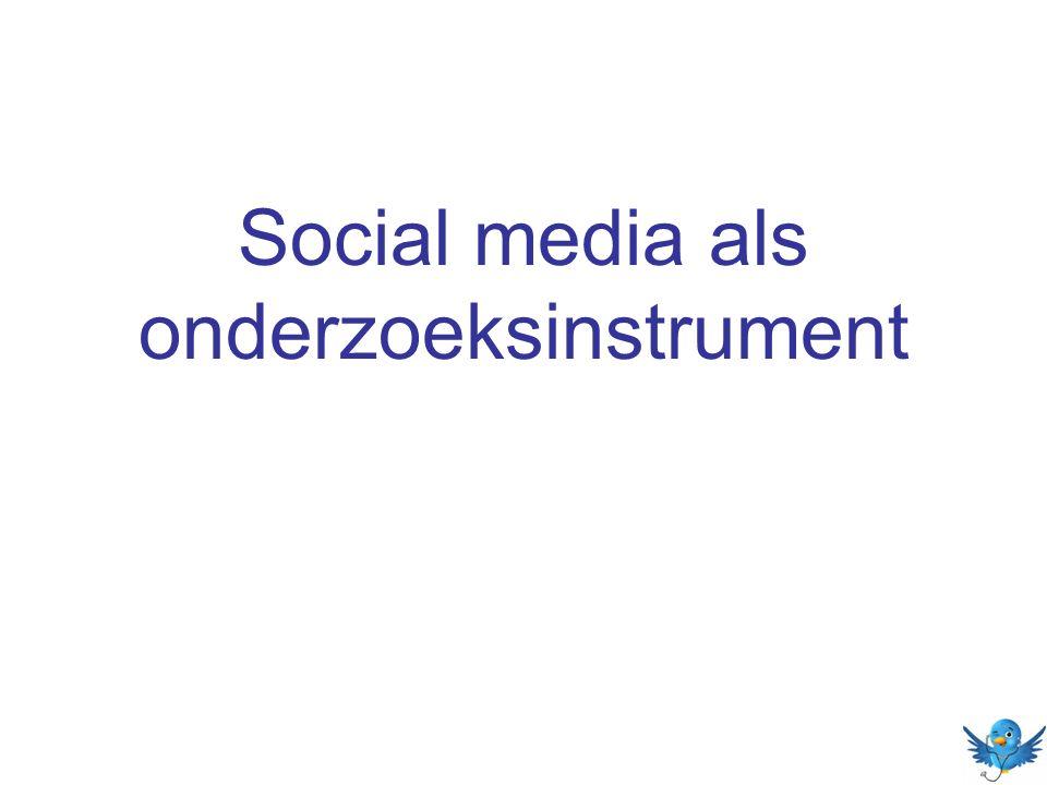Social media als onderzoeksinstrument