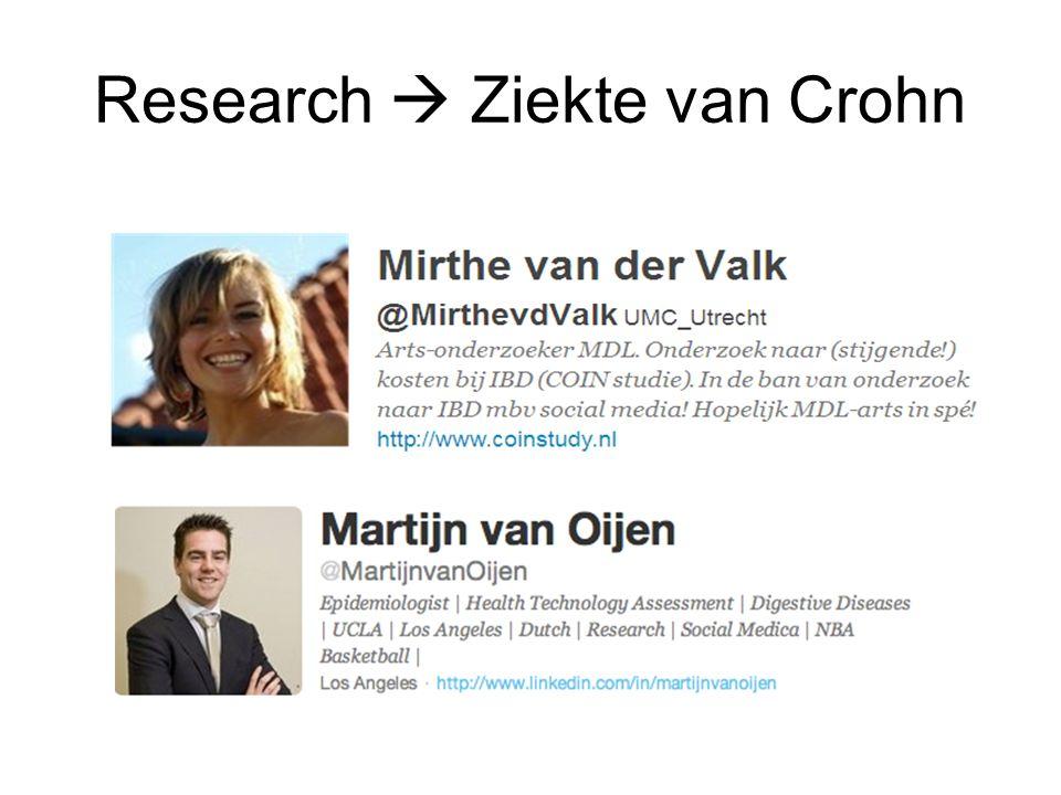 Research  Ziekte van Crohn