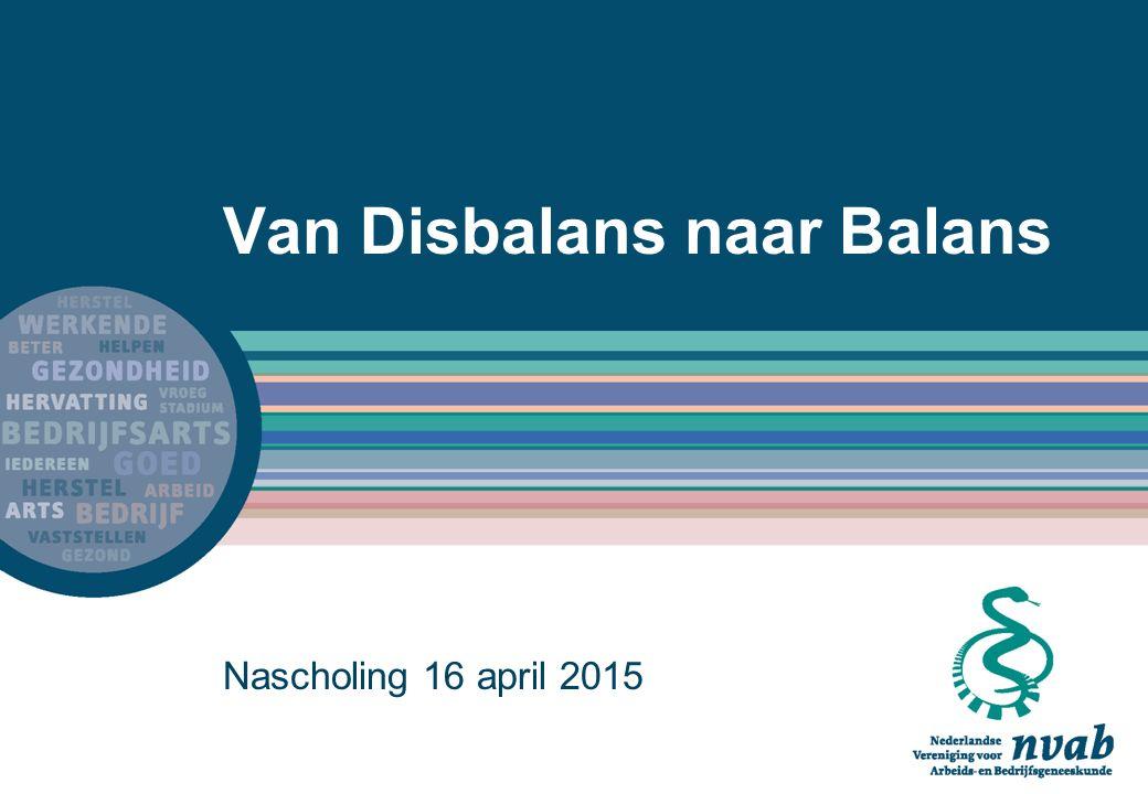 Van Disbalans naar Balans Nascholing 16 april 2015