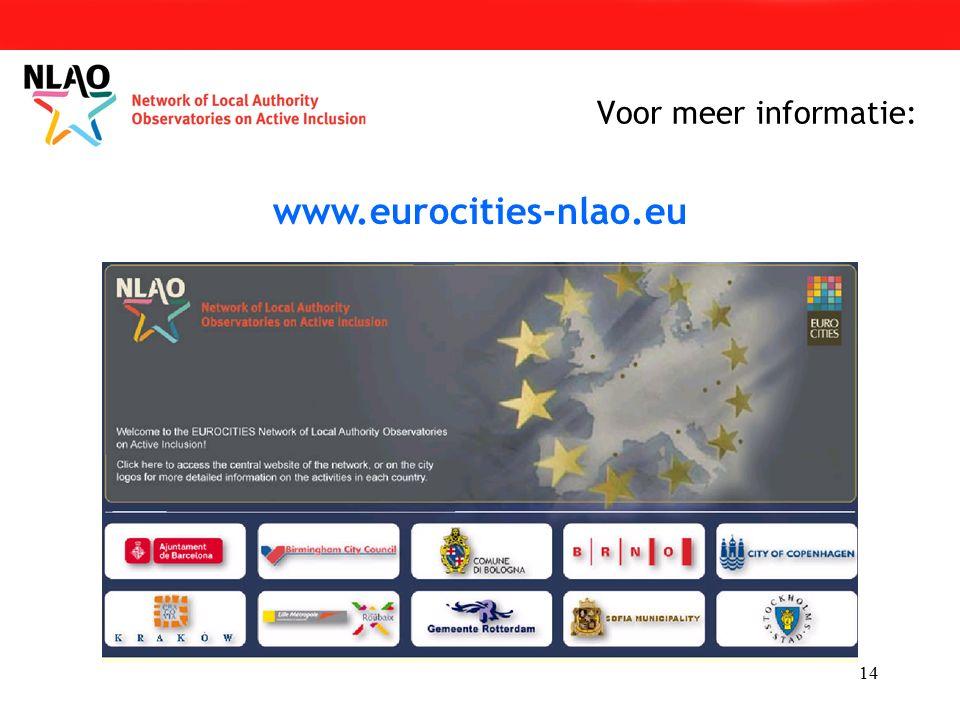 14 Voor meer informatie: www.eurocities-nlao.eu