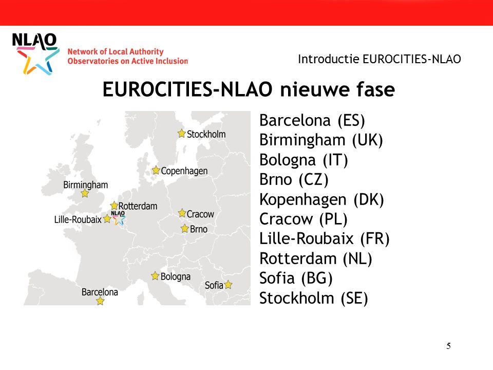 5 EUROCITIES-NLAO nieuwe fase Barcelona (ES) Birmingham (UK) Bologna (IT) Brno (CZ) Kopenhagen (DK) Cracow (PL) Lille-Roubaix (FR) Rotterdam (NL) Sofia (BG) Stockholm (SE)