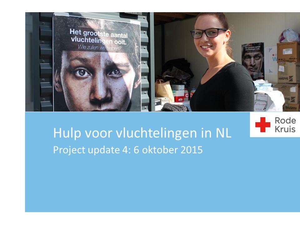 Project update 4: 6 oktober 2015 Hulp voor vluchtelingen in NL