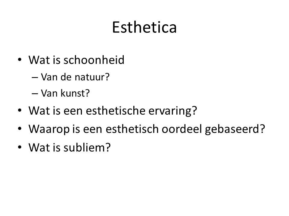 Esthetica Wat is schoonheid – Van de natuur. – Van kunst.