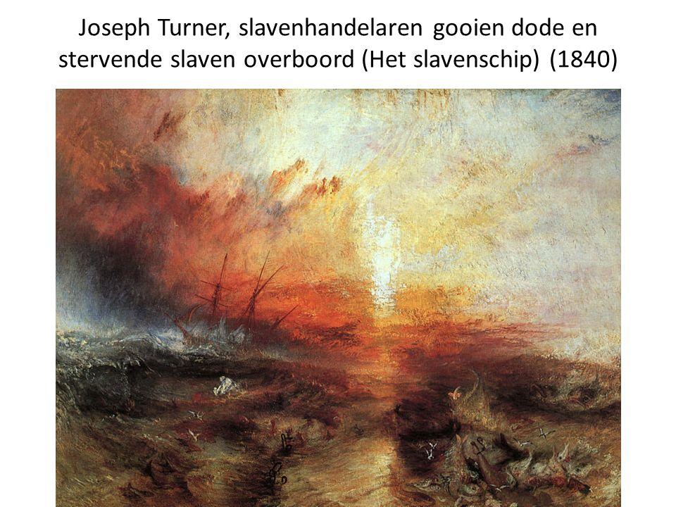 Joseph Turner, slavenhandelaren gooien dode en stervende slaven overboord (Het slavenschip) (1840)