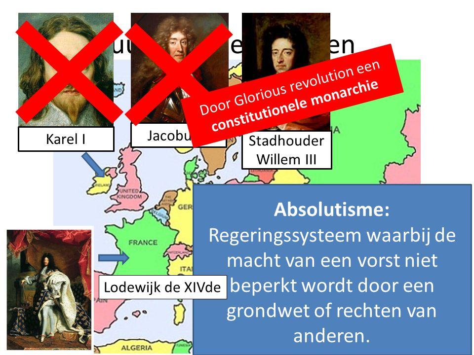 Absolutisme: Regeringssysteem waarbij de macht van een vorst niet beperkt wordt door een grondwet of rechten van anderen.