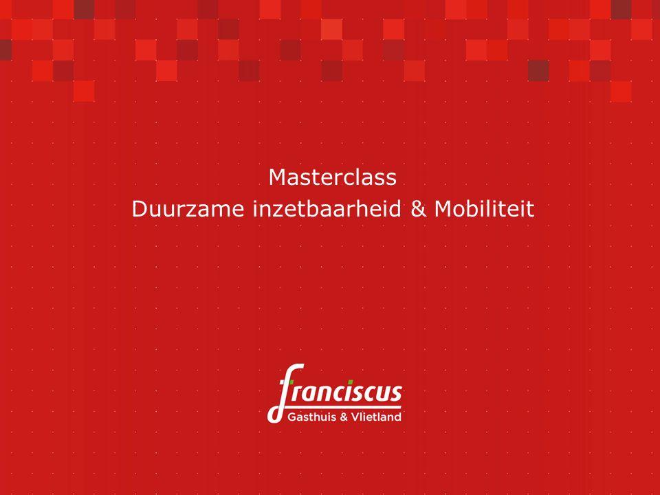 Masterclass Duurzame inzetbaarheid & Mobiliteit