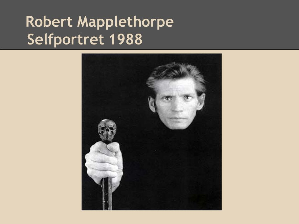 Robert Mapplethorpe Selfportret 1988
