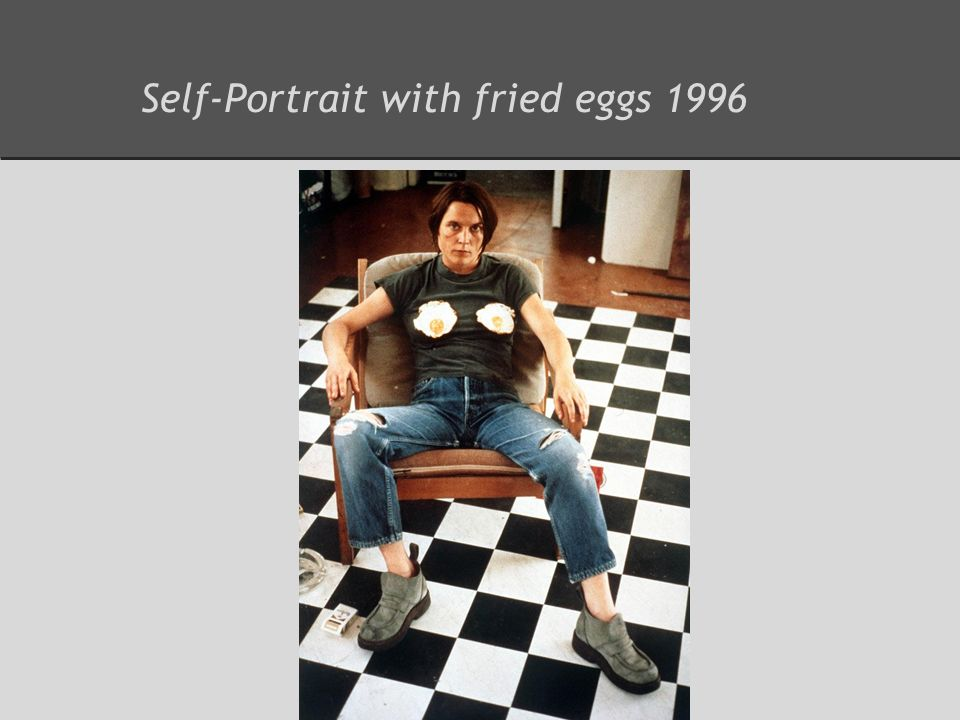 Self-Portrait with fried eggs 1996