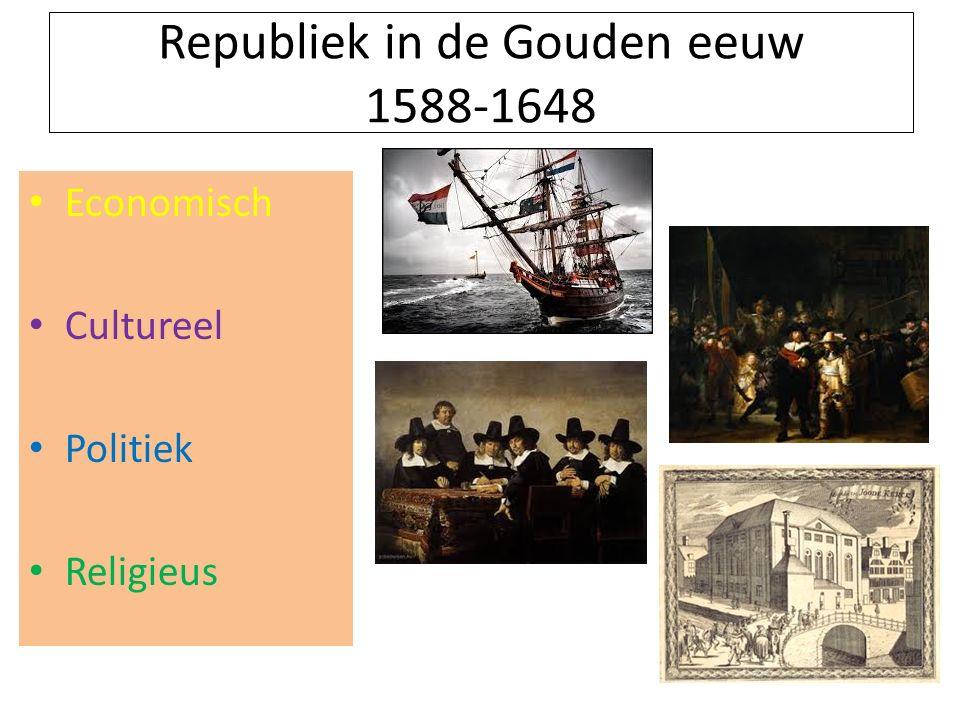 Republiek in de Gouden eeuw 1588-1648 Economisch Cultureel Politiek Religieus
