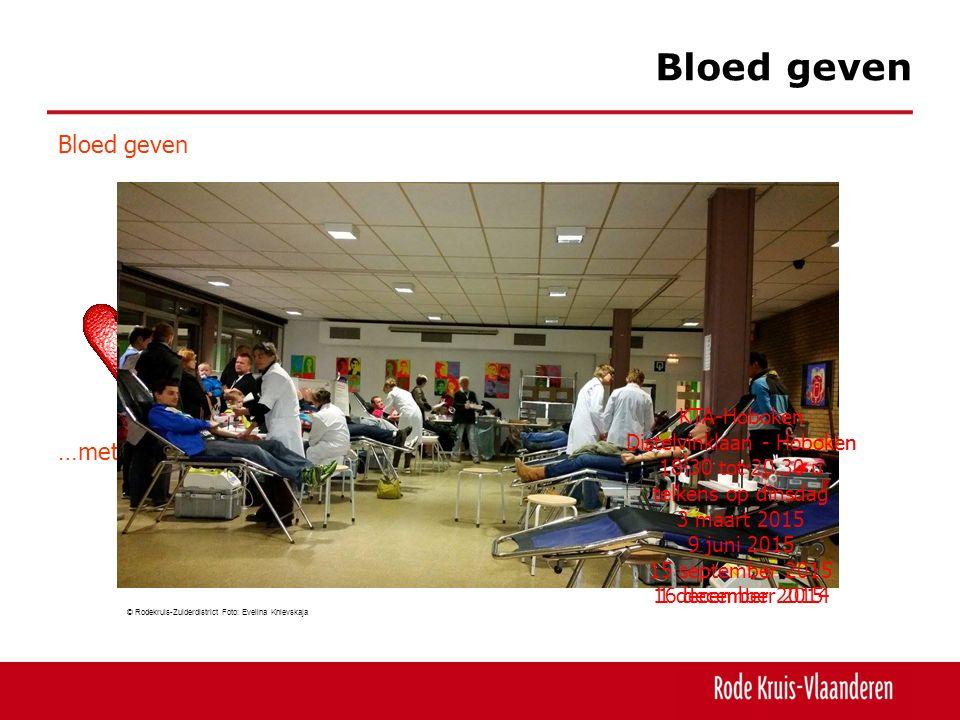 Bloed geven Bloed geven …een noodzaak. …een levensreddend gebaar.
