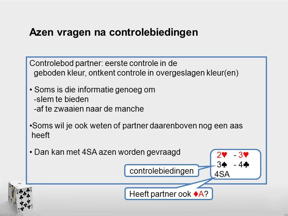 2e17 v2.0 14 Controlebod partner: eerste controle in de geboden kleur, ontkent controle in overgeslagen kleur(en) Soms is die informatie genoeg om -sl