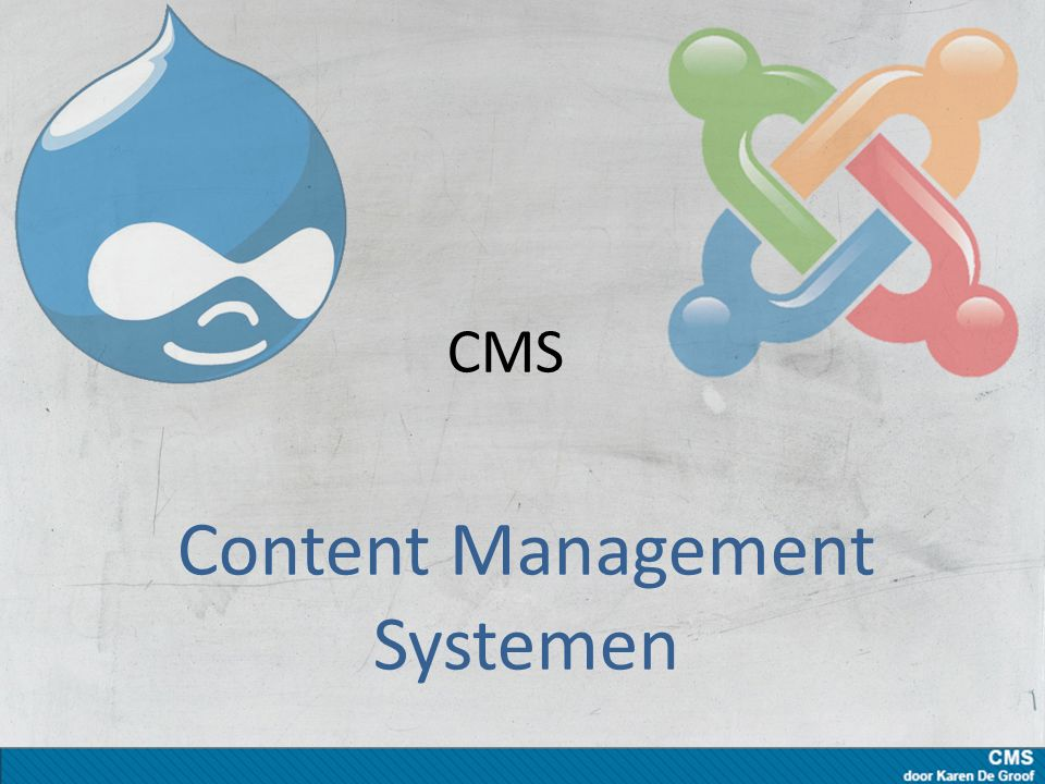 CMS: wat het is Website vanuit database met: – Teksten, beelden – Gebruikers Beheerders Redacteurs Gebruikers (lezers, kijkers) – Rubrieken (categorieën - navigatie)