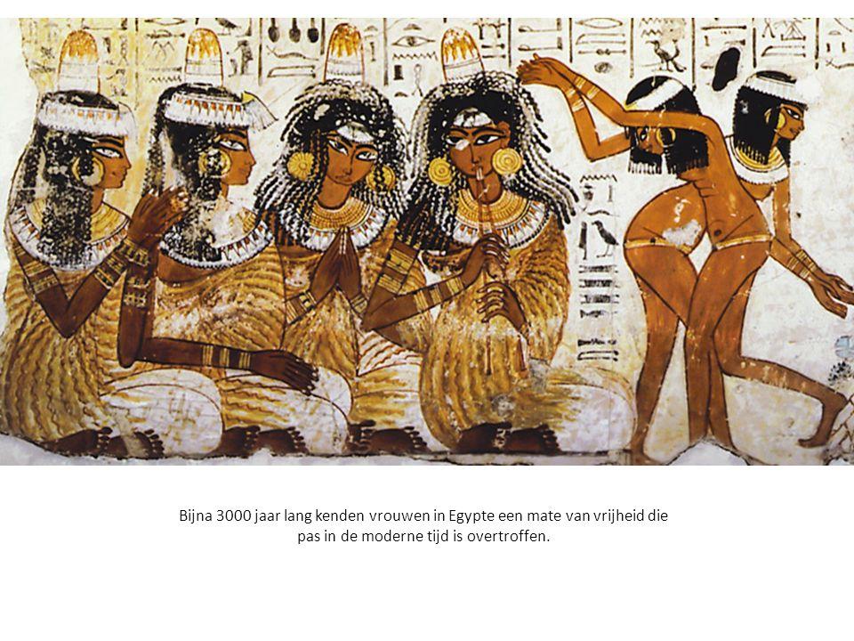 Bijna 3000 jaar lang kenden vrouwen in Egypte een mate van vrijheid die pas in de moderne tijd is overtroffen.