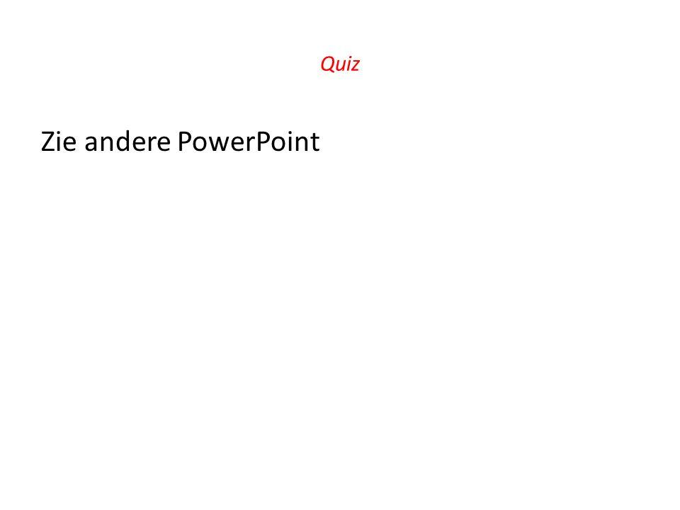 Quiz Zie andere PowerPoint
