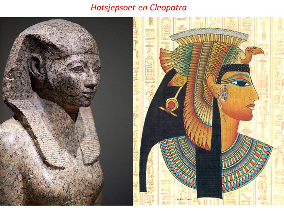 Egyptische tapijtweefsters en een bierbrouwster.