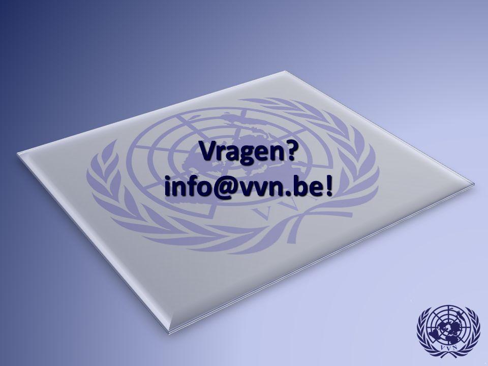Vragen info@vvn.be!