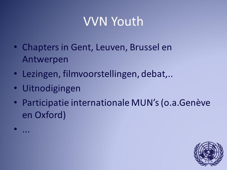 VVN Youth Chapters in Gent, Leuven, Brussel en Antwerpen Lezingen, filmvoorstellingen, debat,..