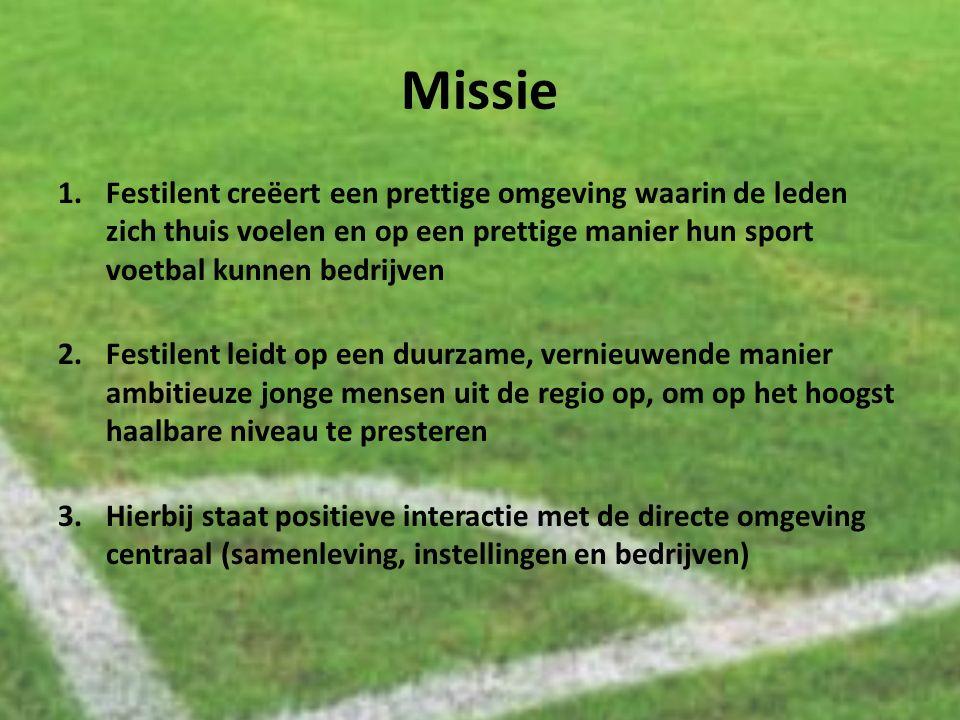 Missie 1.Festilent creëert een prettige omgeving waarin de leden zich thuis voelen en op een prettige manier hun sport voetbal kunnen bedrijven 2.Fest