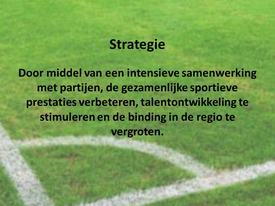 Strategie Door middel van een intensieve samenwerking met partijen, de gezamenlijke sportieve prestaties verbeteren, talentontwikkeling te stimuleren