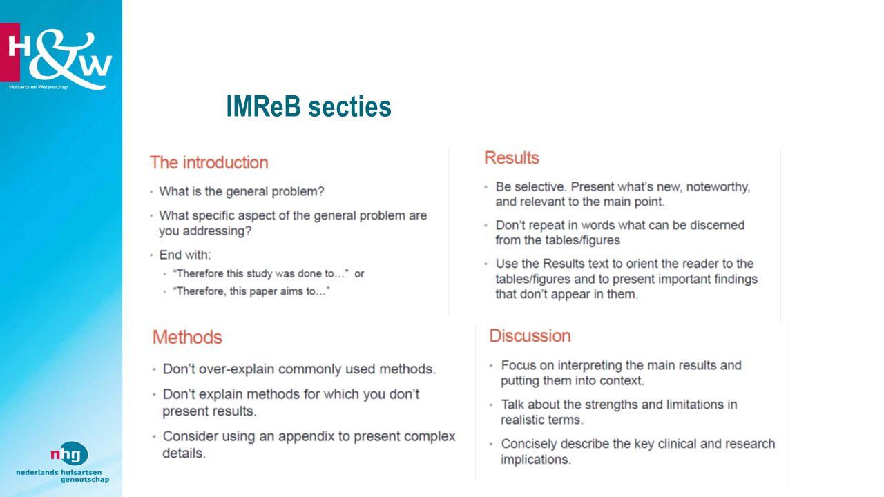 IMReB secties