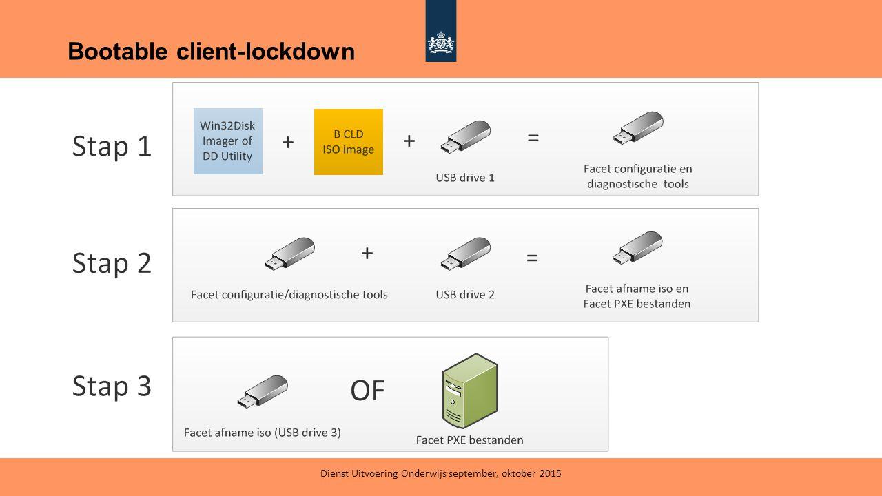 Bootable client-lockdown Dienst Uitvoering Onderwijs september, oktober 2015