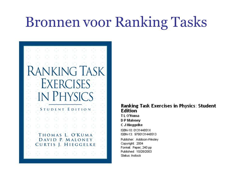Bronnen voor Ranking Tasks