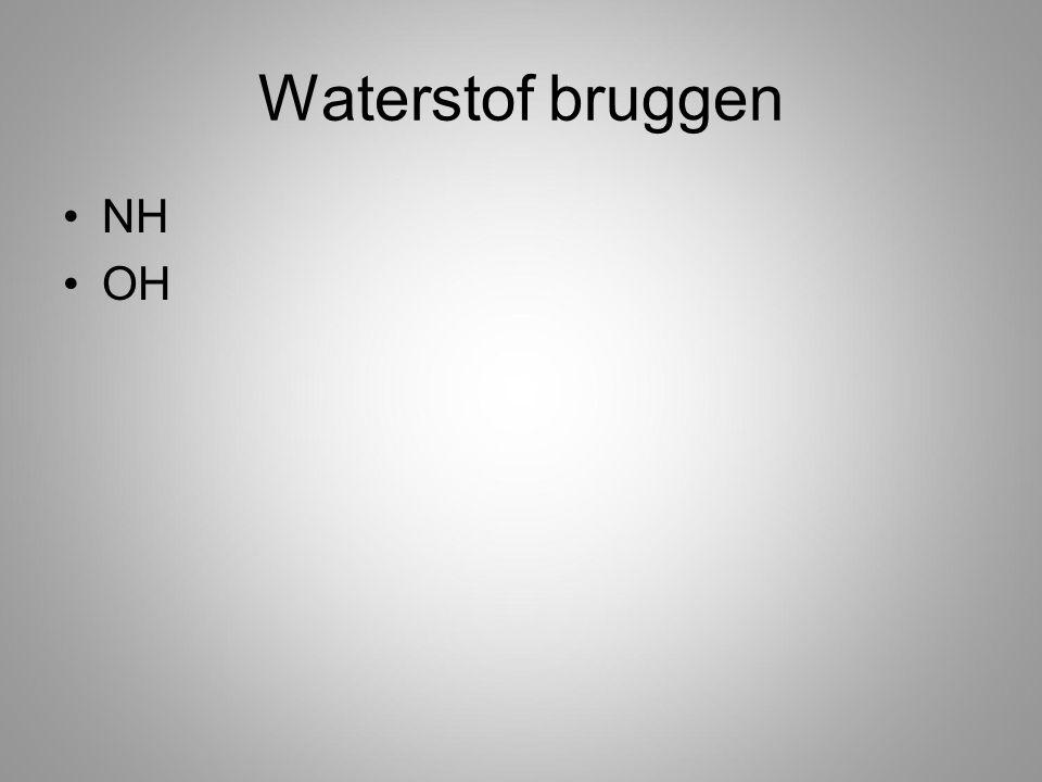 Waterstof bruggen NH OH